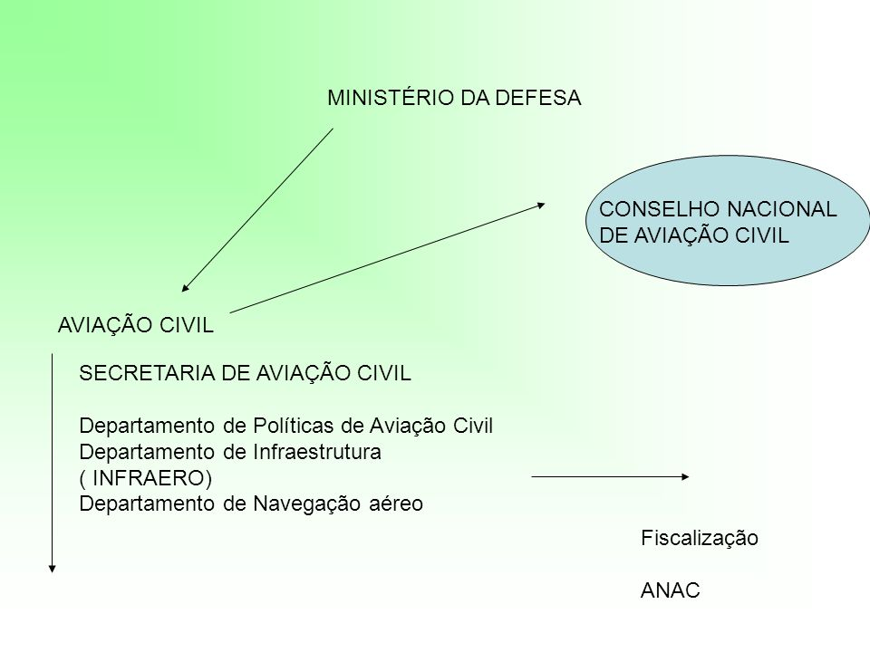 MINISTÉRIO DA DEFESA CONSELHO NACIONAL. DE AVIAÇÃO CIVIL. AVIAÇÃO CIVIL. SECRETARIA DE AVIAÇÃO CIVIL.