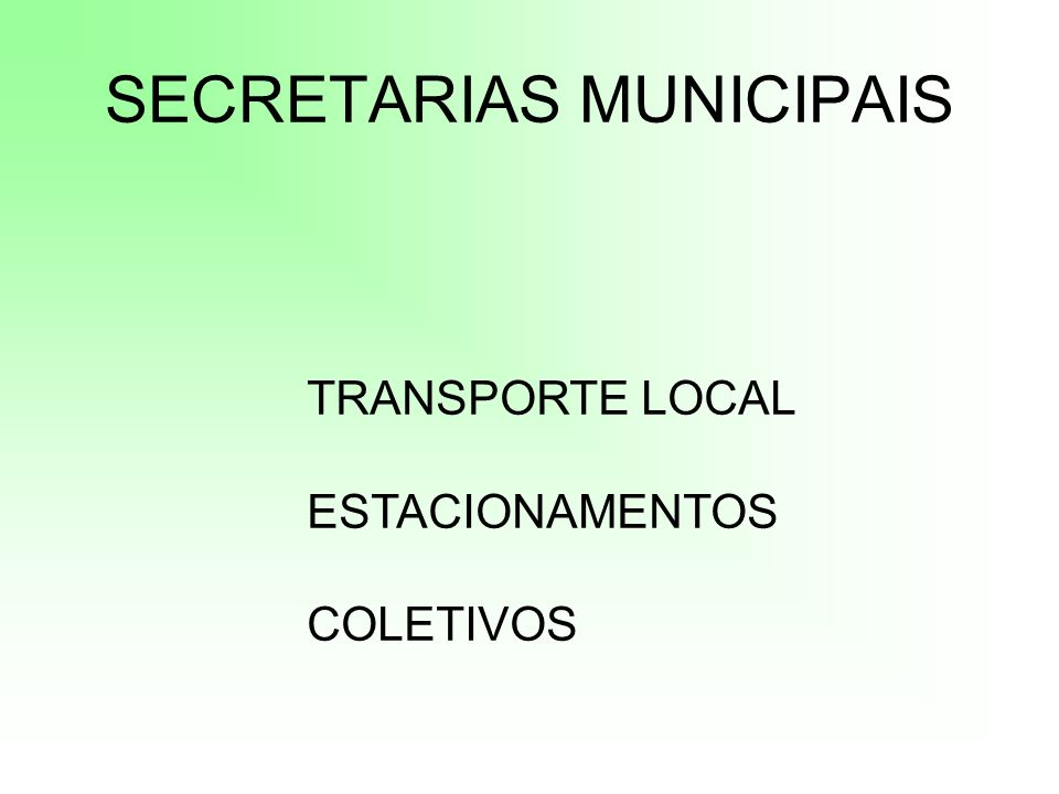 SECRETARIAS MUNICIPAIS