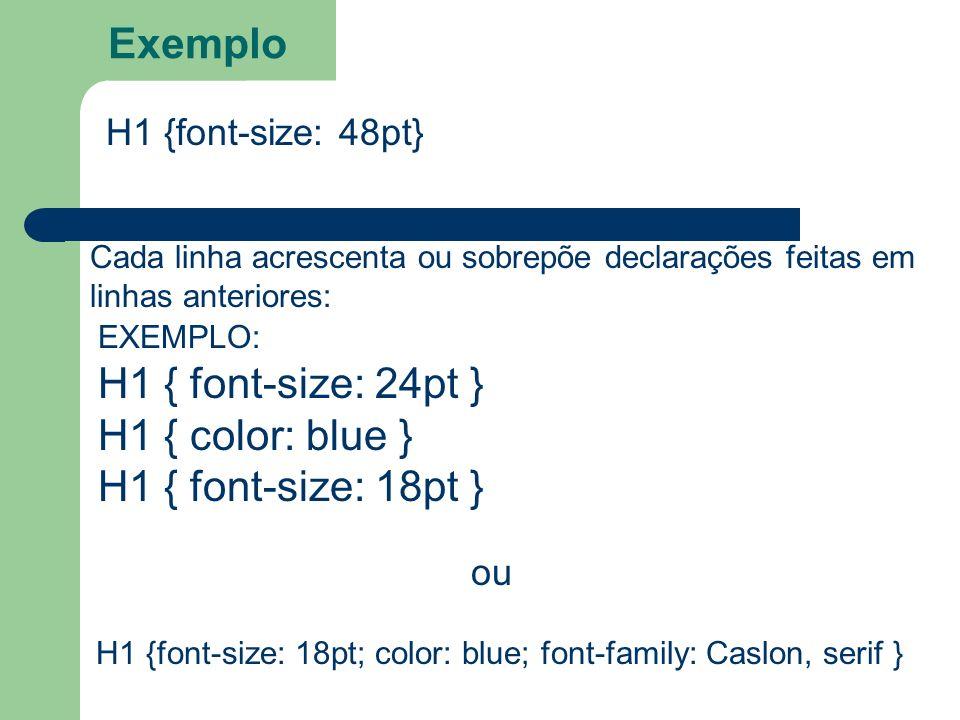 H1 {font-size: 18pt; color: blue; font-family: Caslon, serif }