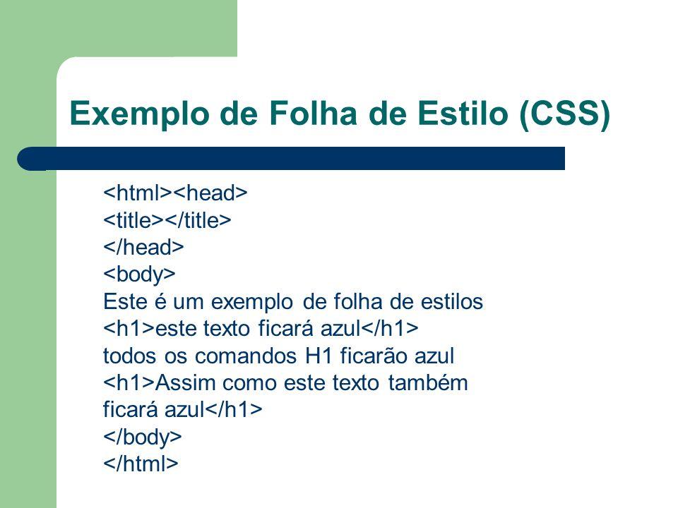Exemplo de Folha de Estilo (CSS)