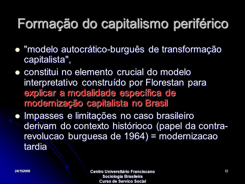 Formação do capitalismo periférico