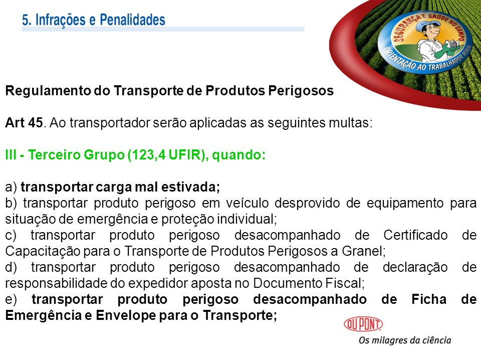 Regulamento do Transporte de Produtos Perigosos