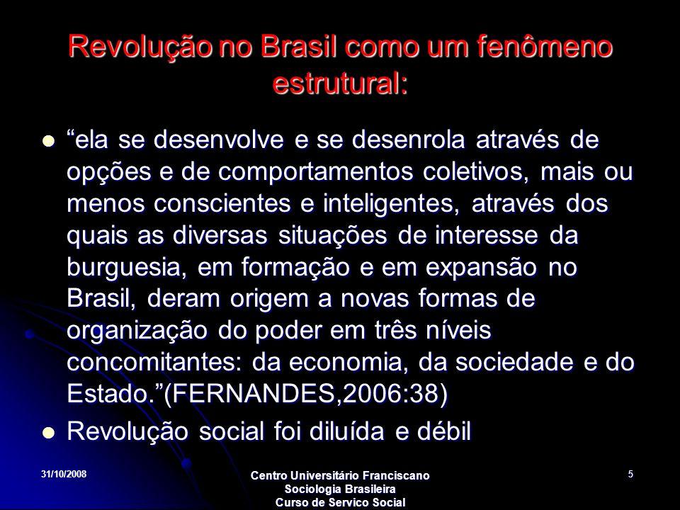 Revolução no Brasil como um fenômeno estrutural: