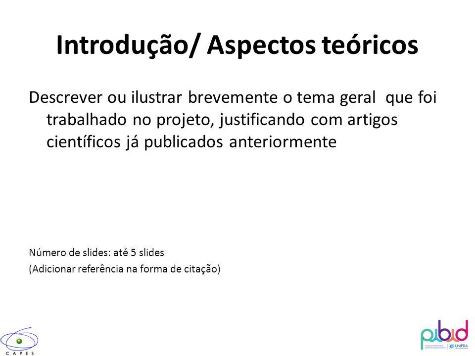 Introdução/ Aspectos teóricos