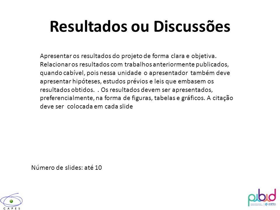 Resultados ou Discussões