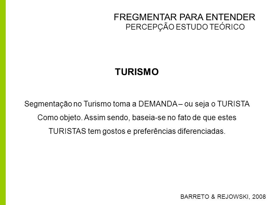 TURISMO FREGMENTAR PARA ENTENDER PERCEPÇÃO ESTUDO TEÓRICO