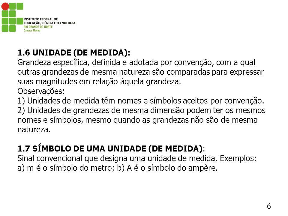 1.6 UNIDADE (DE MEDIDA):