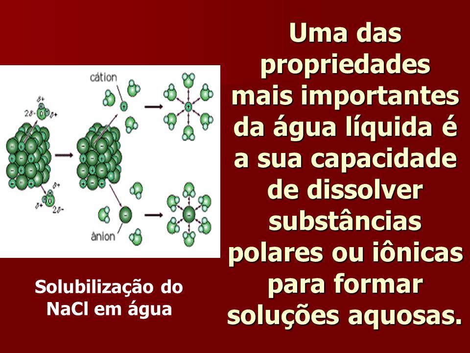 Solubilização do NaCl em água