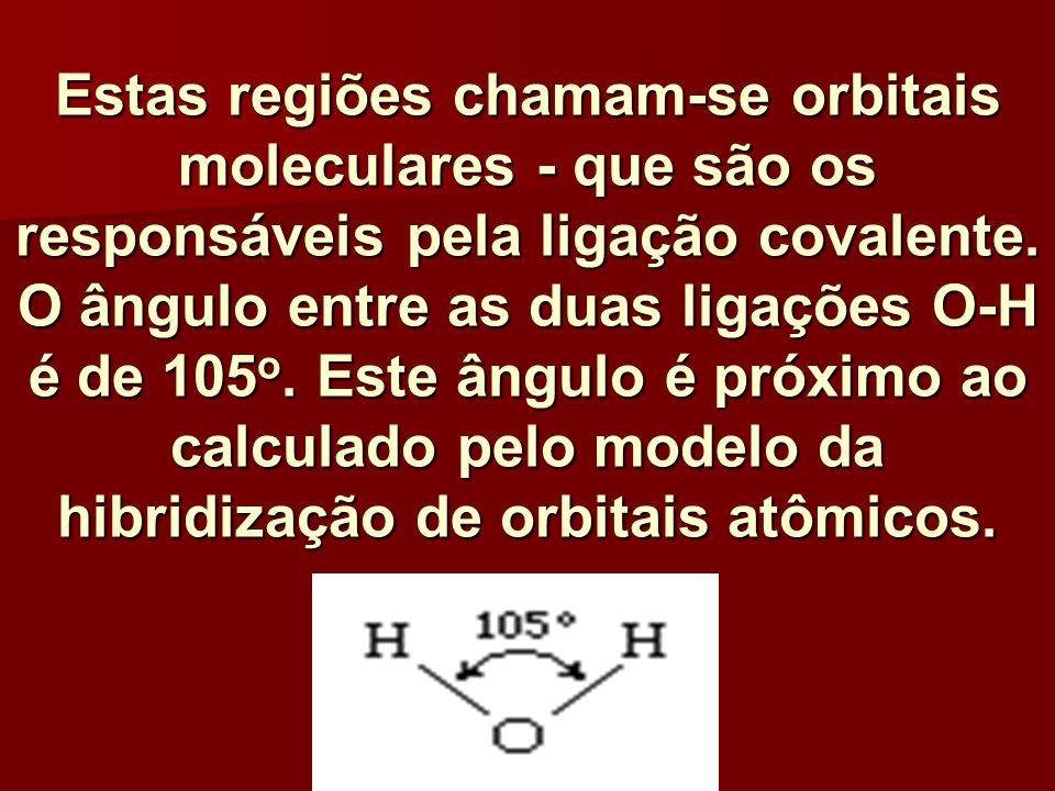Estas regiões chamam-se orbitais moleculares - que são os responsáveis pela ligação covalente.
