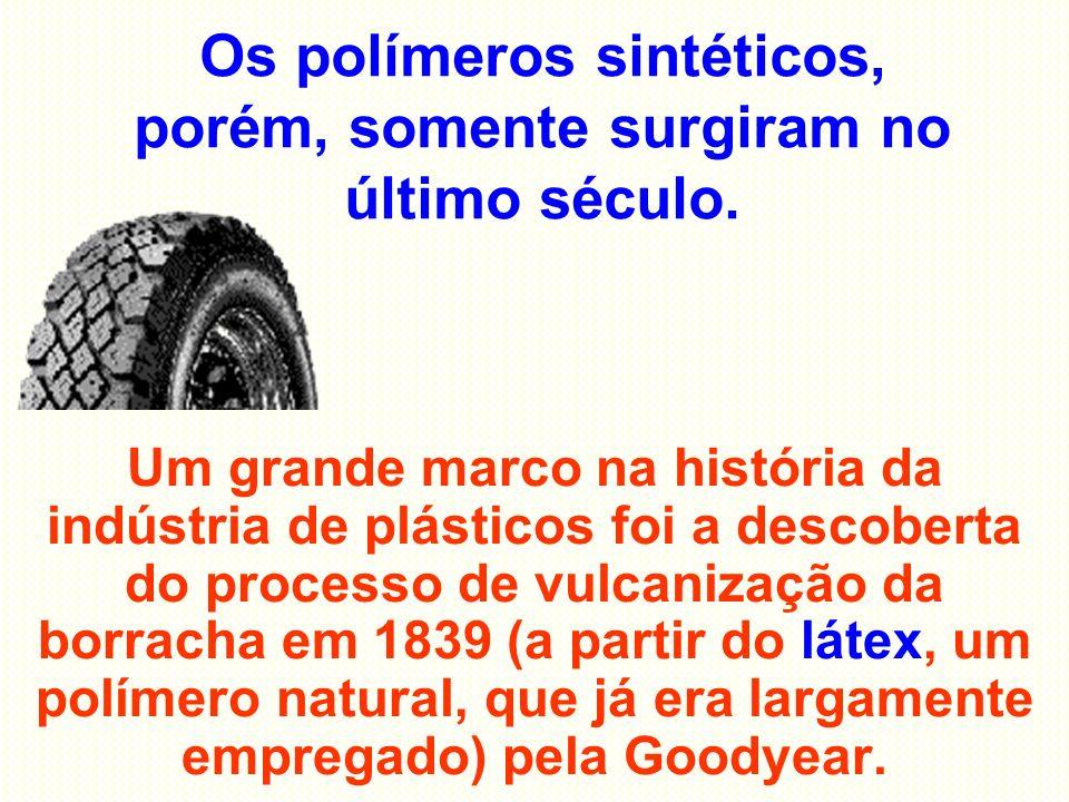 Os polímeros sintéticos, porém, somente surgiram no último século.