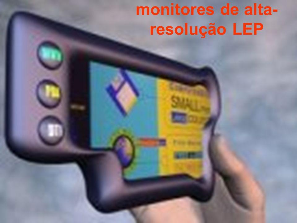 monitores de alta-resolução LEP