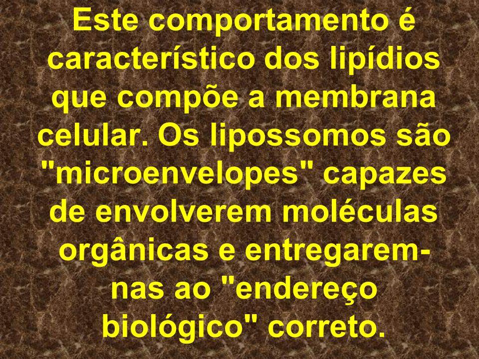 Este comportamento é característico dos lipídios que compõe a membrana celular.
