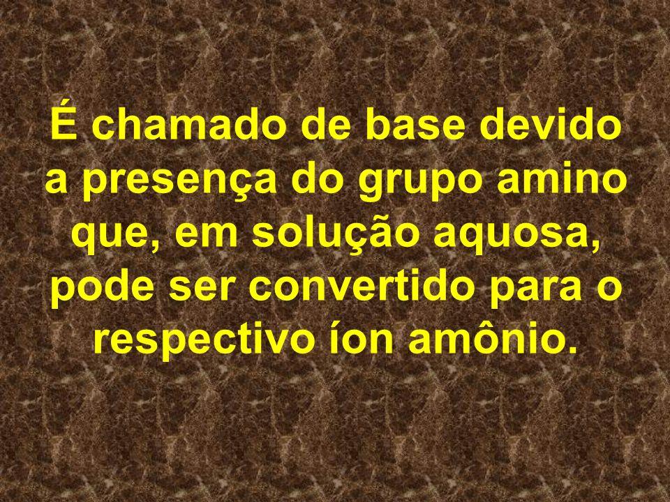É chamado de base devido a presença do grupo amino que, em solução aquosa, pode ser convertido para o respectivo íon amônio.