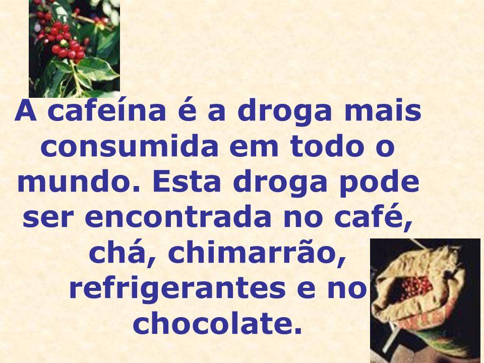 A cafeína é a droga mais consumida em todo o mundo