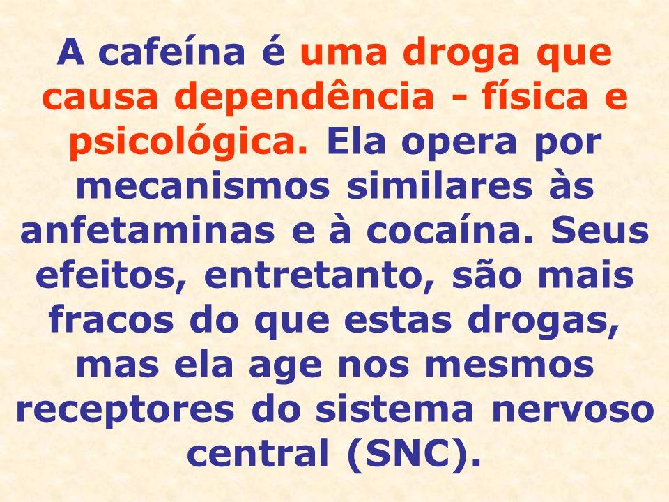 A cafeína é uma droga que causa dependência - física e psicológica