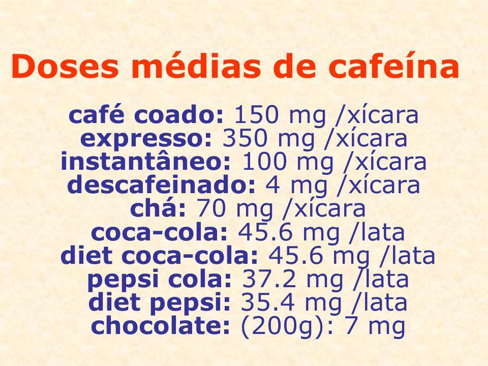 Doses médias de cafeína