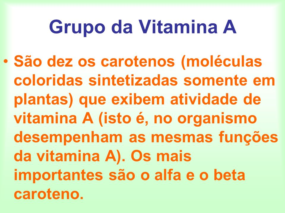 Grupo da Vitamina A