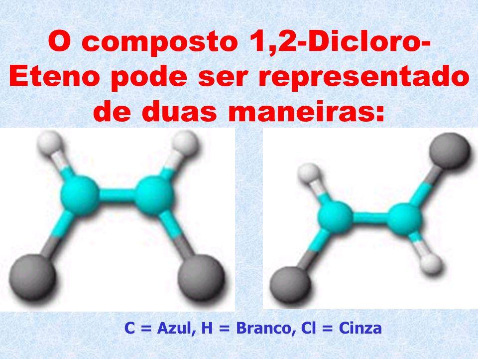 O composto 1,2-Dicloro-Eteno pode ser representado de duas maneiras: