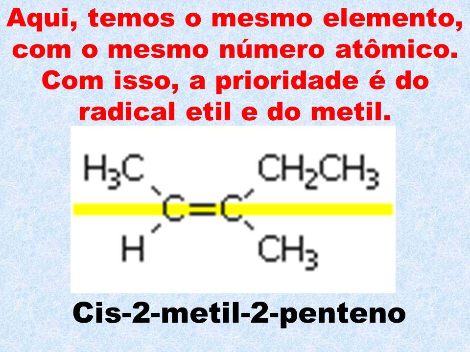 Aqui, temos o mesmo elemento, com o mesmo número atômico
