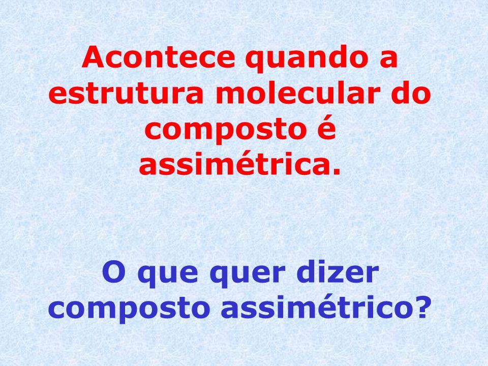 Acontece quando a estrutura molecular do composto é assimétrica