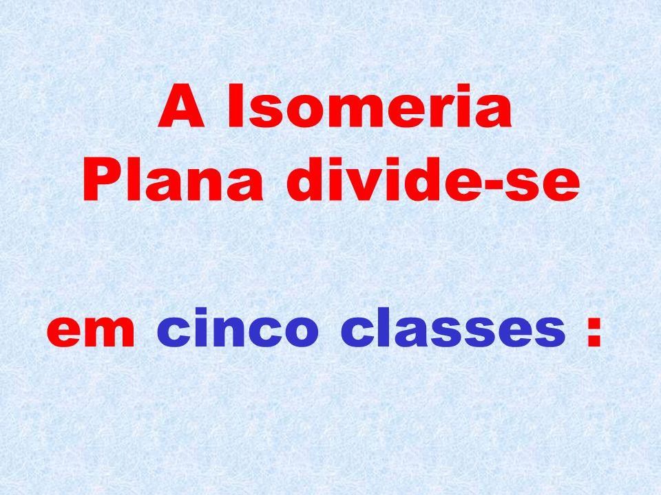 A Isomeria Plana divide-se
