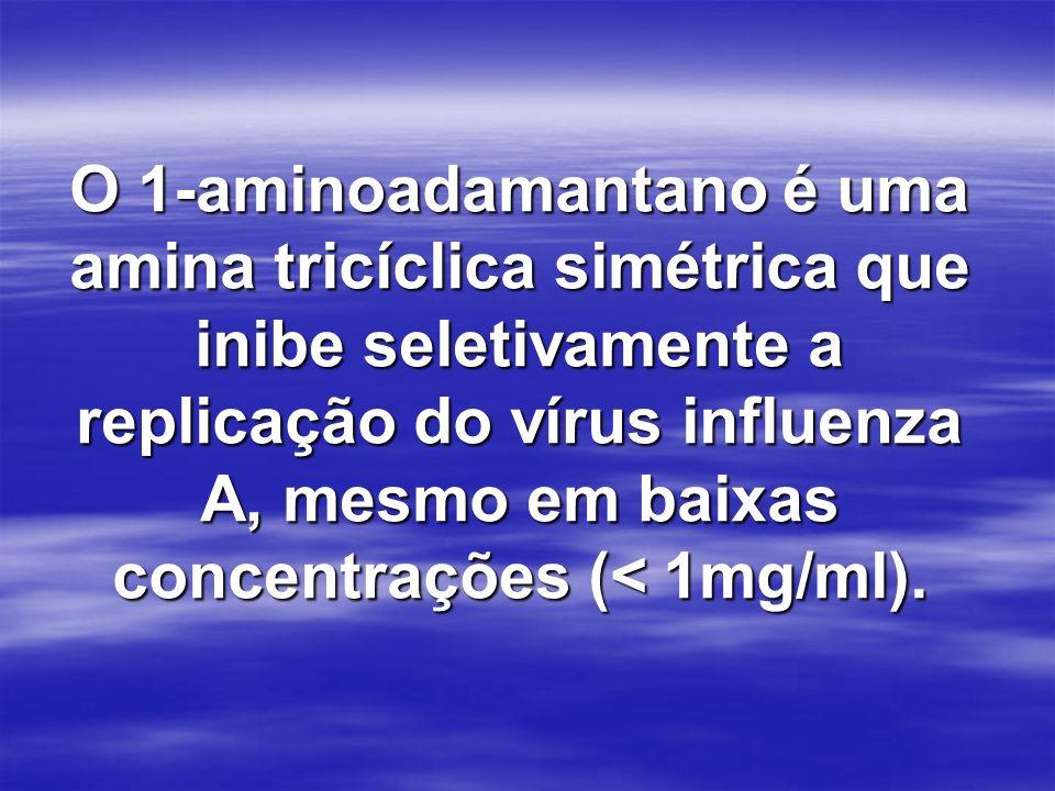 O 1-aminoadamantano é uma amina tricíclica simétrica que inibe seletivamente a replicação do vírus influenza A, mesmo em baixas concentrações (< 1mg/ml).