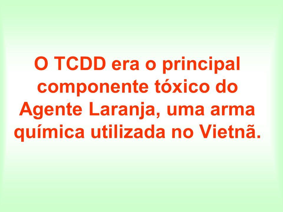 O TCDD era o principal componente tóxico do Agente Laranja, uma arma química utilizada no Vietnã.