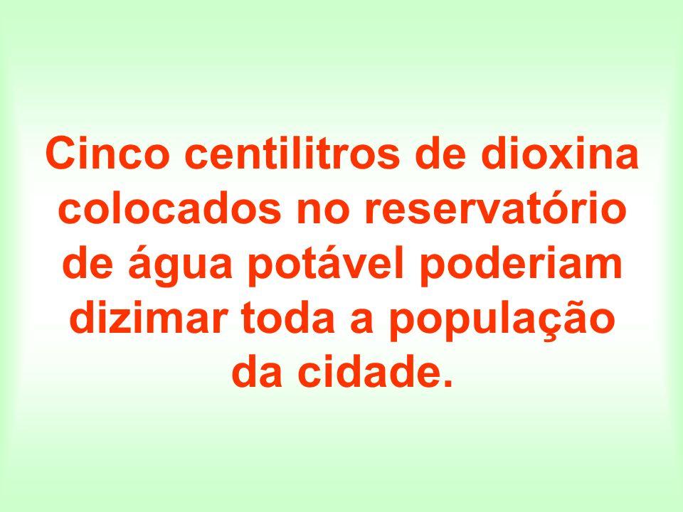 Cinco centilitros de dioxina colocados no reservatório de água potável poderiam dizimar toda a população da cidade.