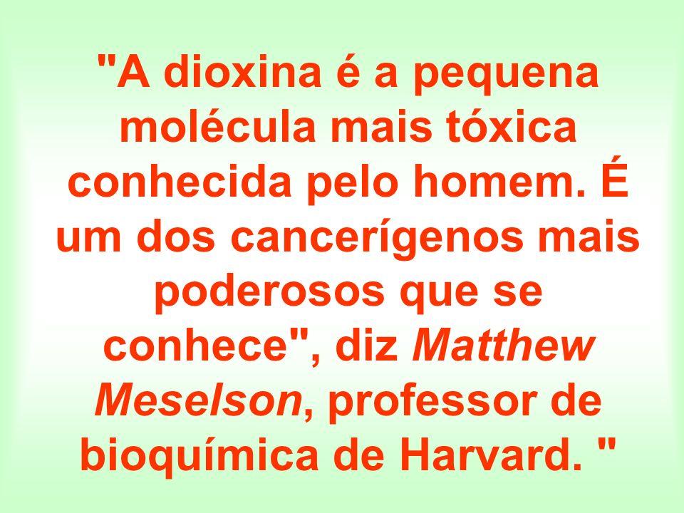 A dioxina é a pequena molécula mais tóxica conhecida pelo homem