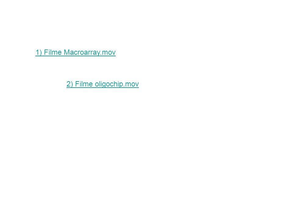 1) Filme Macroarray.mov 2) Filme oligochip.mov