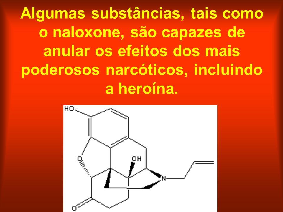 Algumas substâncias, tais como o naloxone, são capazes de anular os efeitos dos mais poderosos narcóticos, incluindo a heroína.