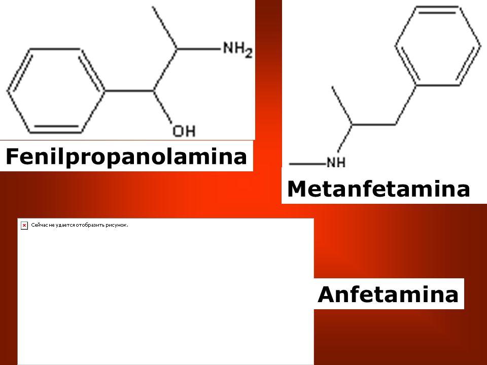 Fenilpropanolamina Metanfetamina Anfetamina