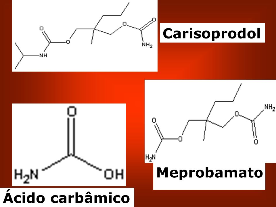 Carisoprodol Meprobamato Ácido carbâmico