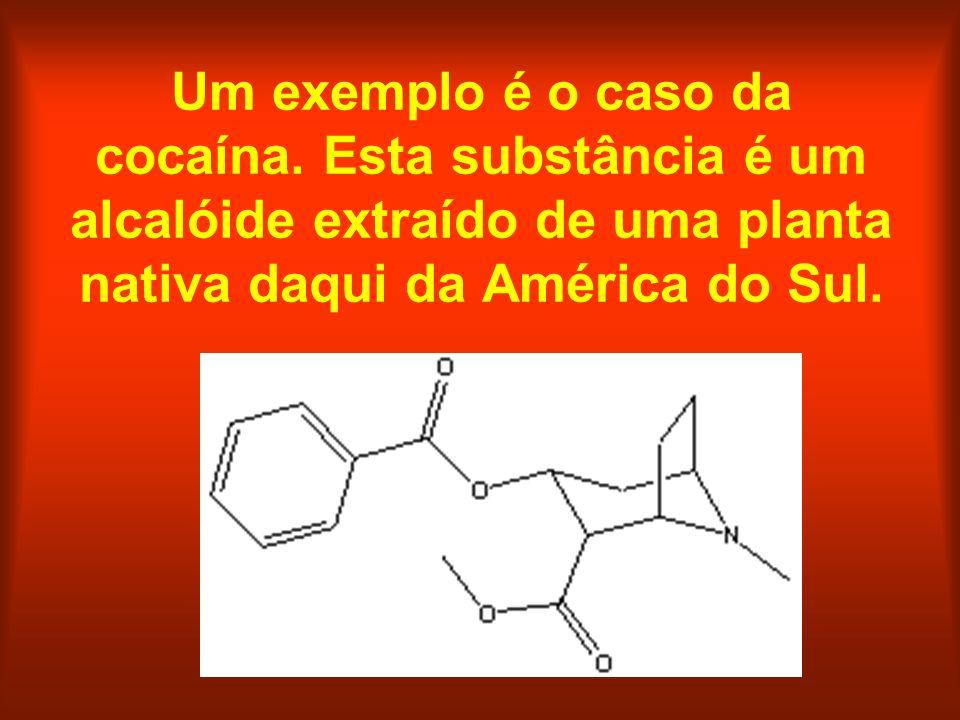 Um exemplo é o caso da cocaína