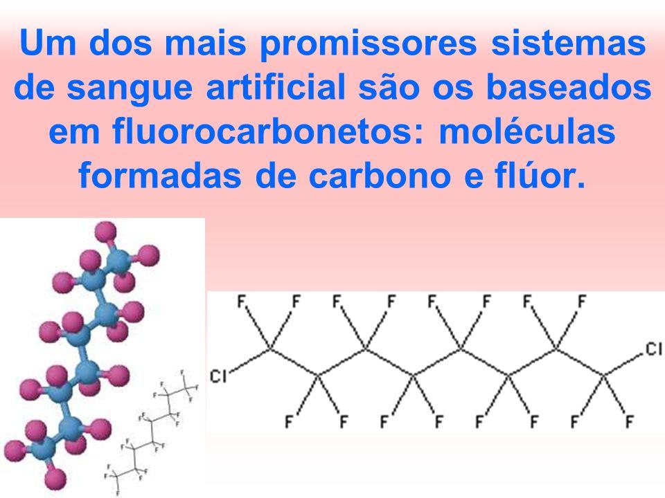 Um dos mais promissores sistemas de sangue artificial são os baseados em fluorocarbonetos: moléculas formadas de carbono e flúor.