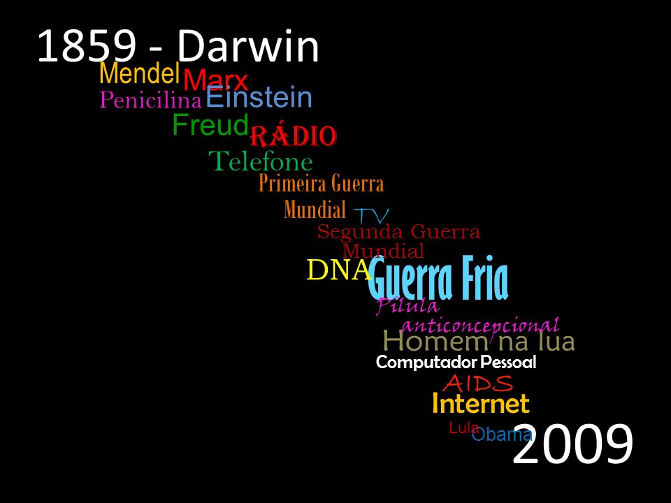 2009 Guerra Fria 1859 - Darwin Mendel Marx Einstein Freud Rádio