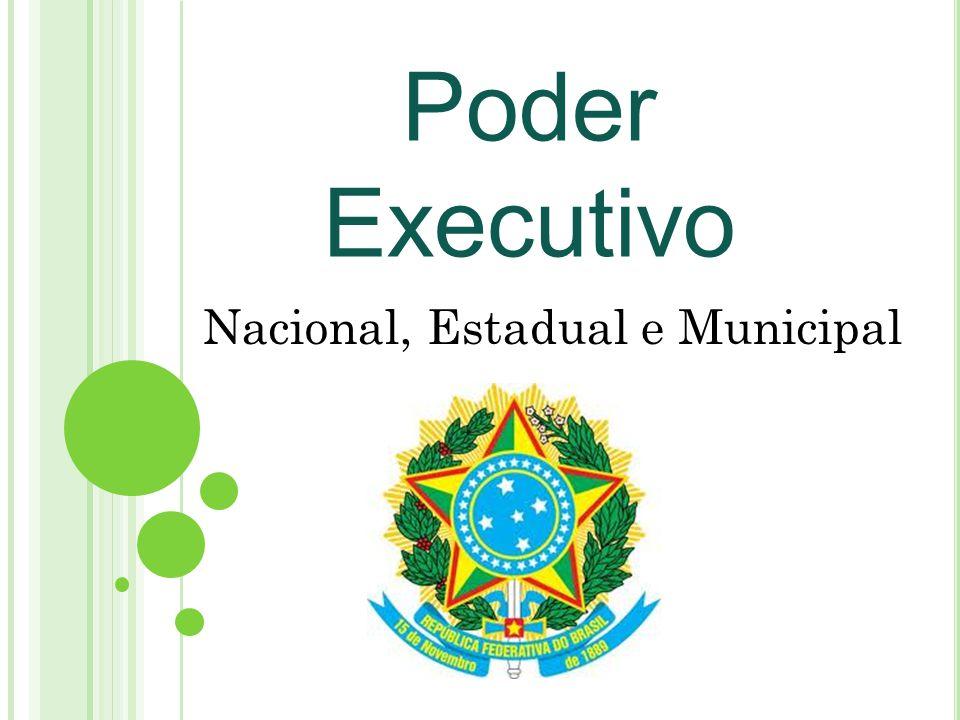 Poder Executivo Nacional, Estadual e Municipal