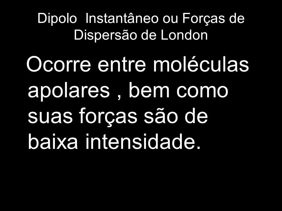 Dipolo Instantâneo ou Forças de Dispersão de London