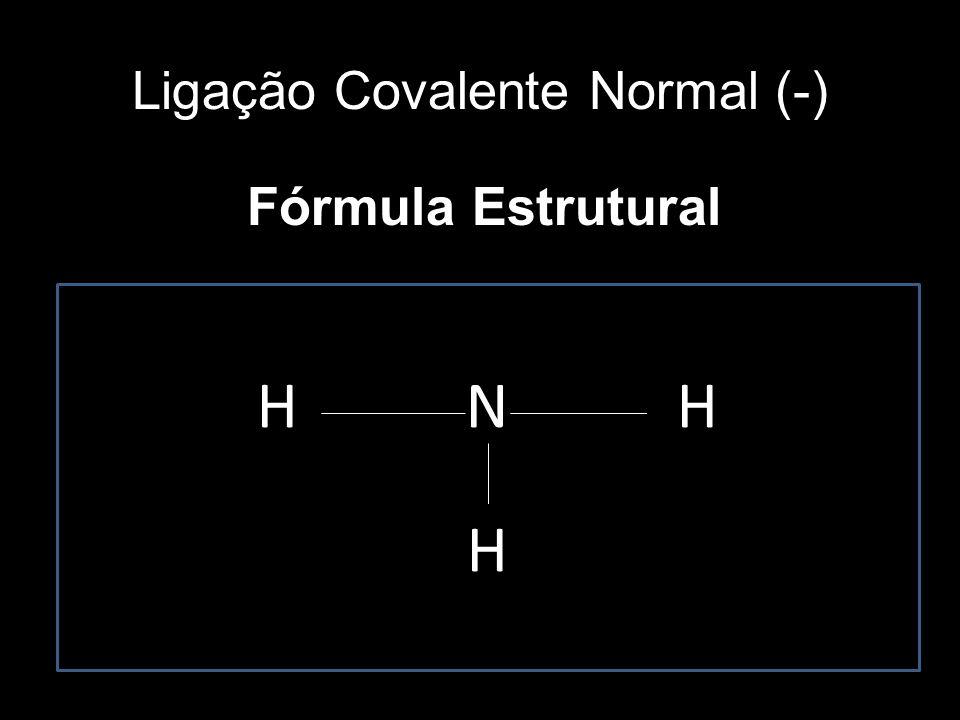 Ligação Covalente Normal (-)