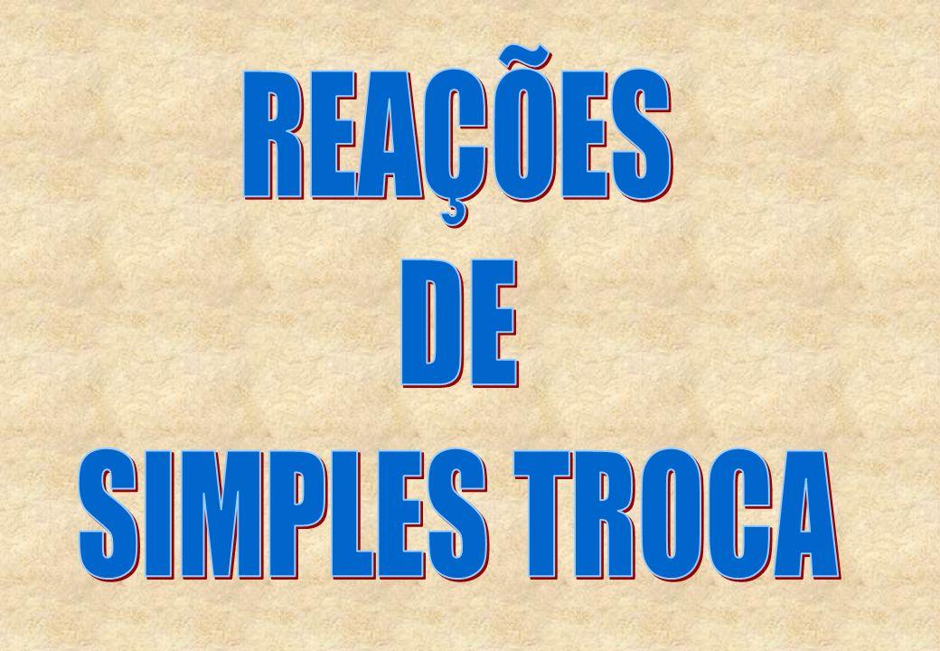 REAÇÕES DE SIMPLES TROCA