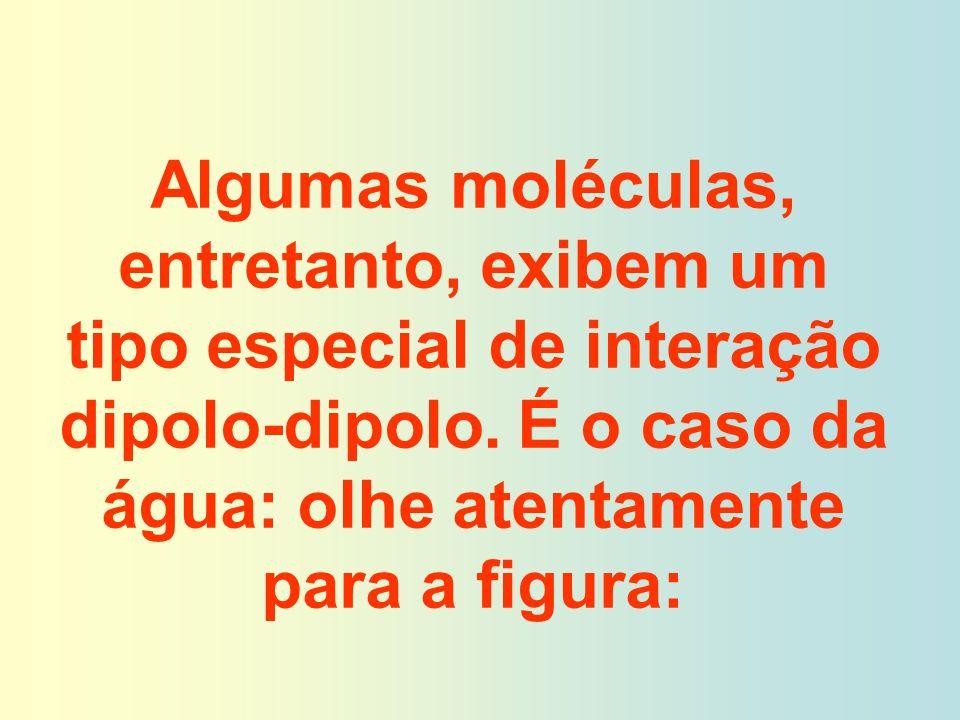 Algumas moléculas, entretanto, exibem um tipo especial de interação dipolo-dipolo.