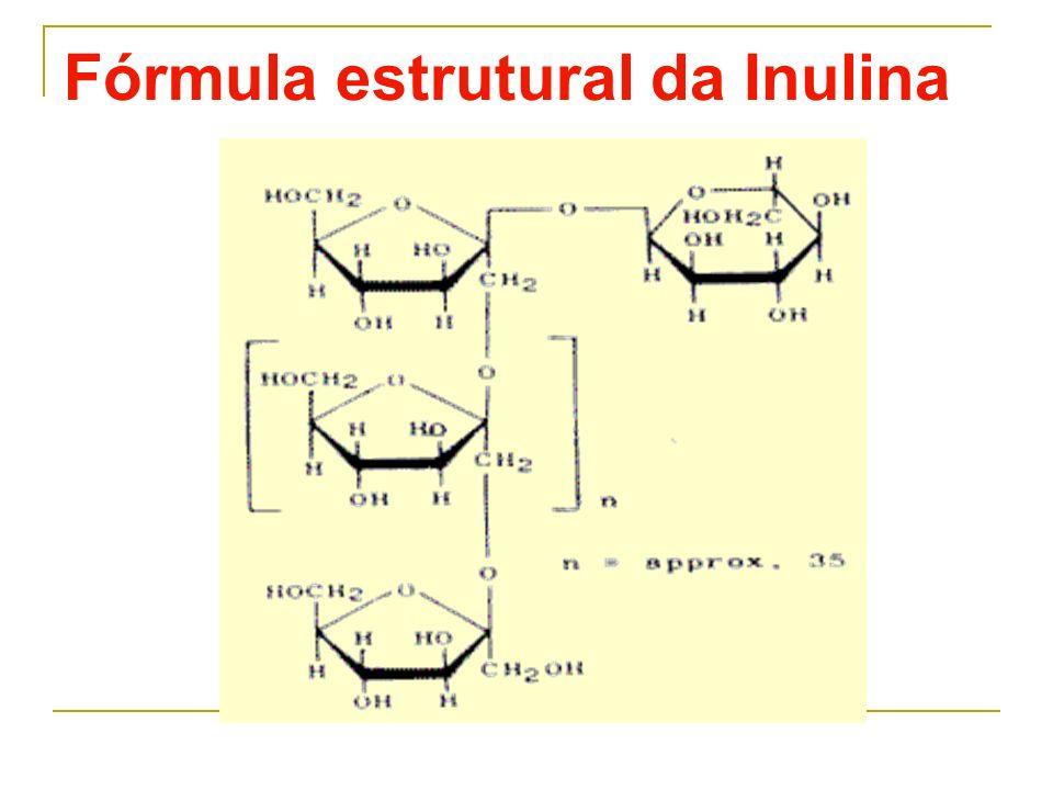 Fórmula estrutural da Inulina