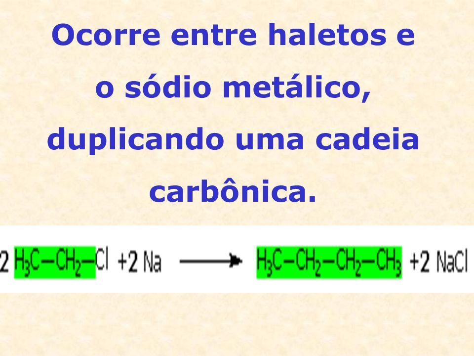 Ocorre entre haletos e o sódio metálico, duplicando uma cadeia carbônica.