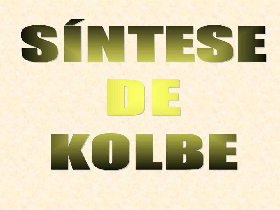 SÍNTESE DE KOLBE