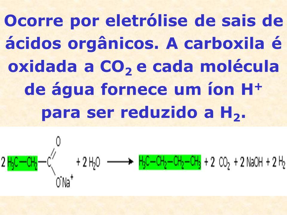 Ocorre por eletrólise de sais de ácidos orgânicos