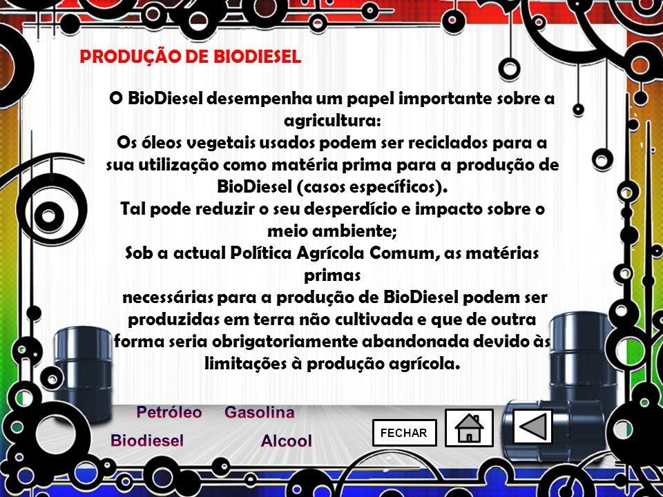 O BioDiesel desempenha um papel importante sobre a agricultura: