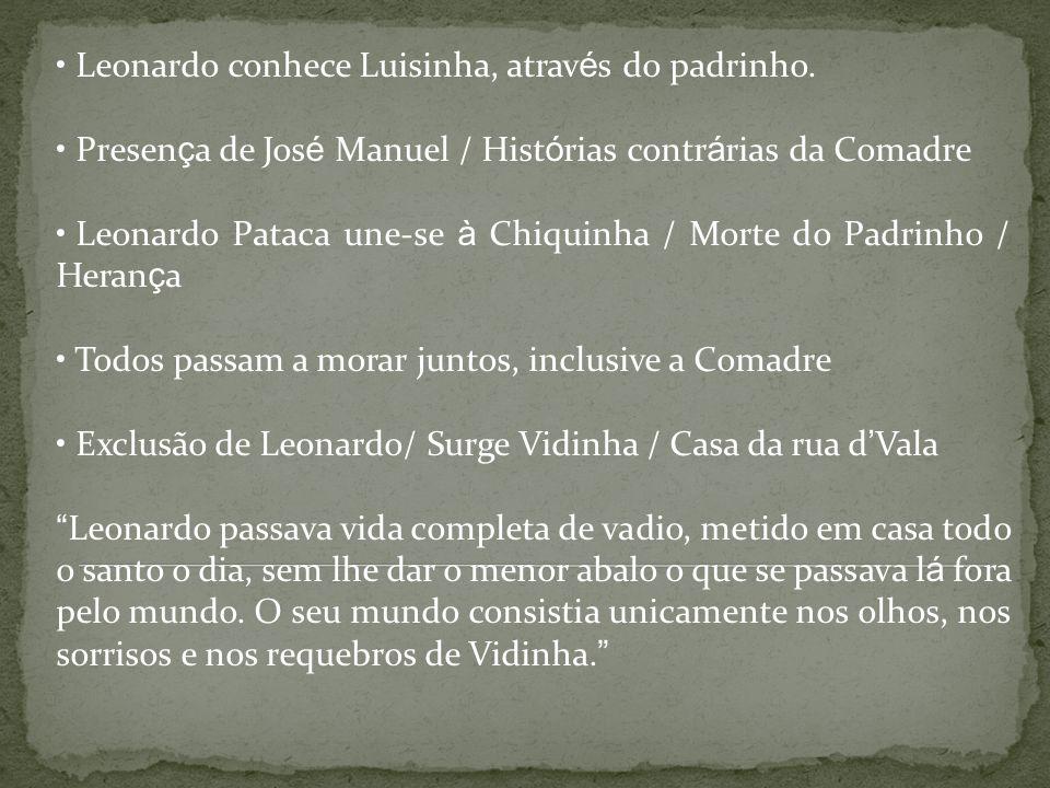 Leonardo conhece Luisinha, através do padrinho.