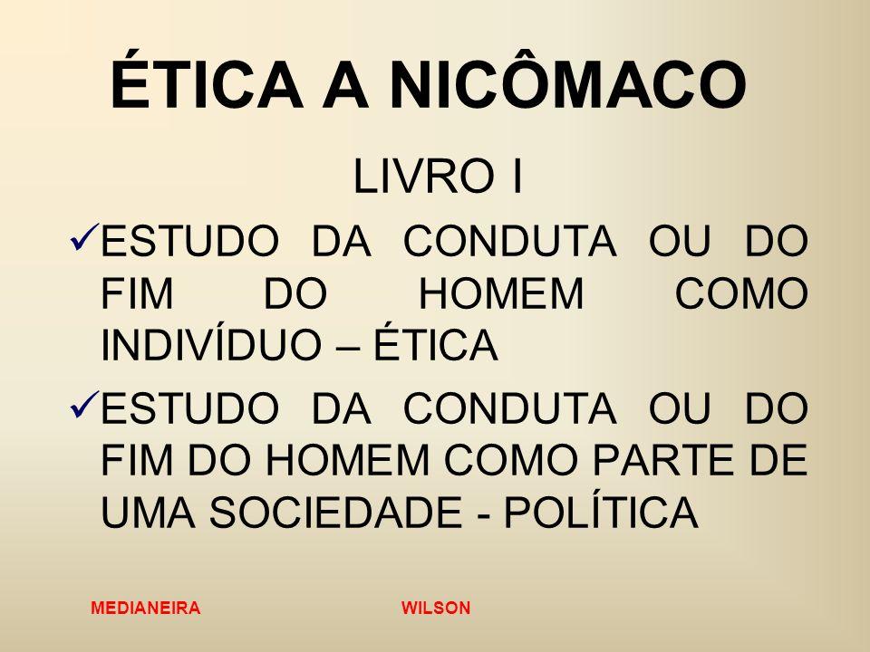 ÉTICA A NICÔMACO LIVRO I