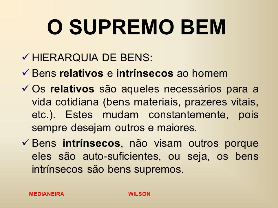 O SUPREMO BEM HIERARQUIA DE BENS: