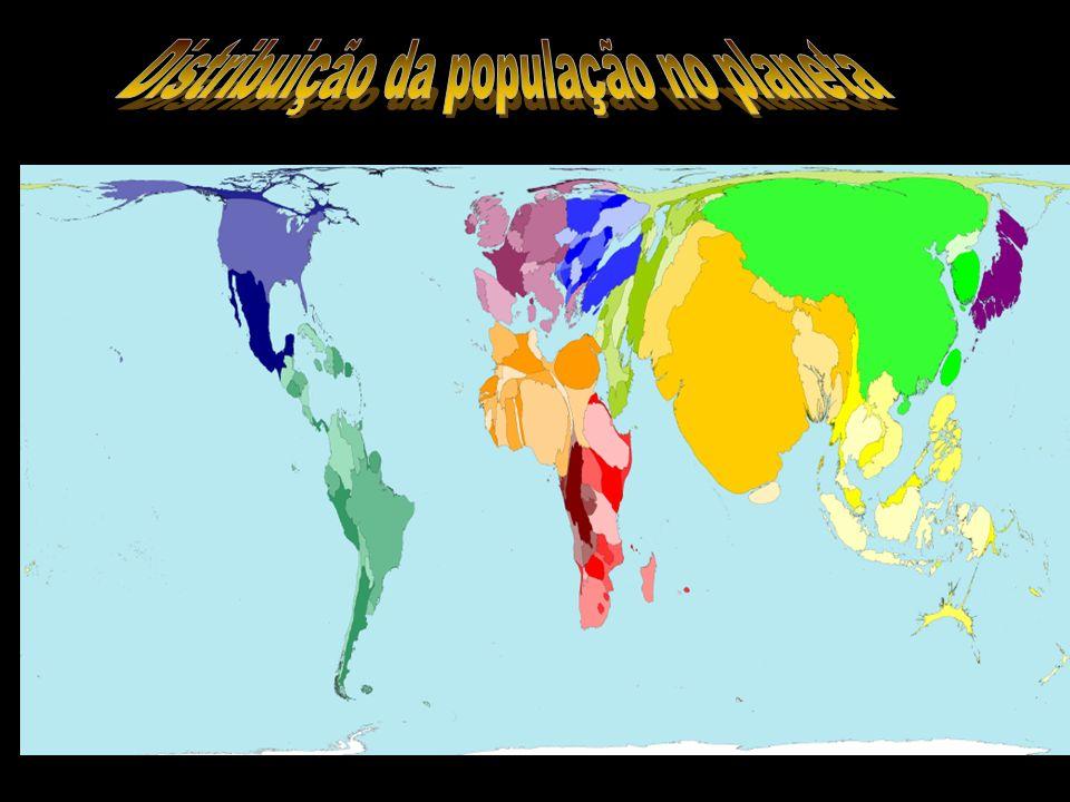 Distribuição da população no planeta